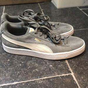 Grey puma sneakers